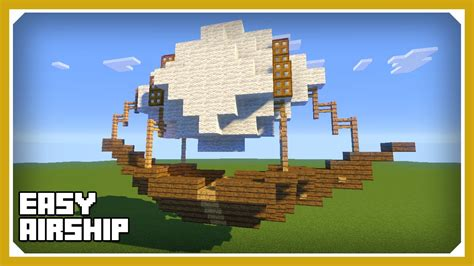 minecraft build tutorial how to minecraft how to build an airship tutorial easy survival minecraft vehicle