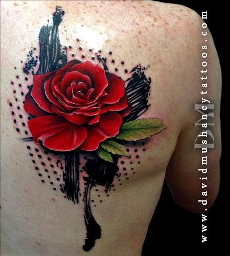 abstract rose tattoo abstract by david mushaney tattoos