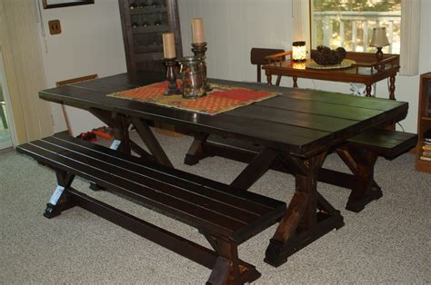 fancy x farmhouse bench ana white fancy x farm table and benches diy projects