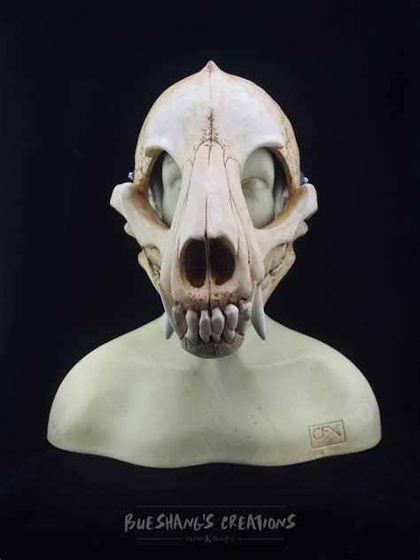 wolf skull mask full bueshangs creations