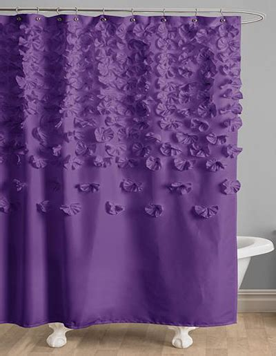 purple fabric shower curtains purple shower curtains decor by color