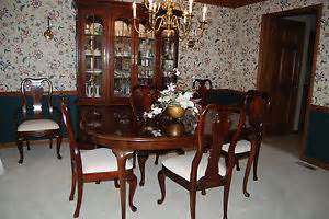 Thomasville Cherry Dining Room Set Thomasville Collector 039 S Cherry Dining Room Set Table 6