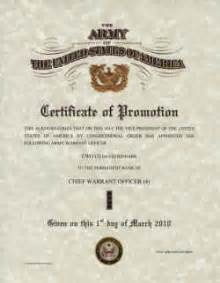 army promotion certificate template army promotion certificates
