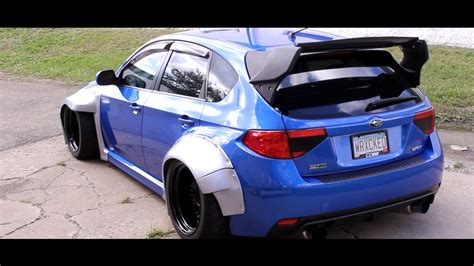 widebody wrx widebody subaru wrx vollkommen design extreme wide youtube