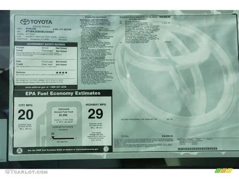Toyota Window Sticker By Vin Auto Window Sticker Using Vin On Toyota Autos Post