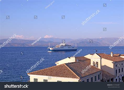 ferry boat near me ferry boat sailing near corfu town stock photo 415794487