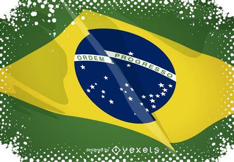 rio  sobre la bandera de brasil descargar vector