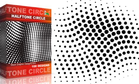 vector pattern fill corel halftone circle pack vector photoshop brushes stock