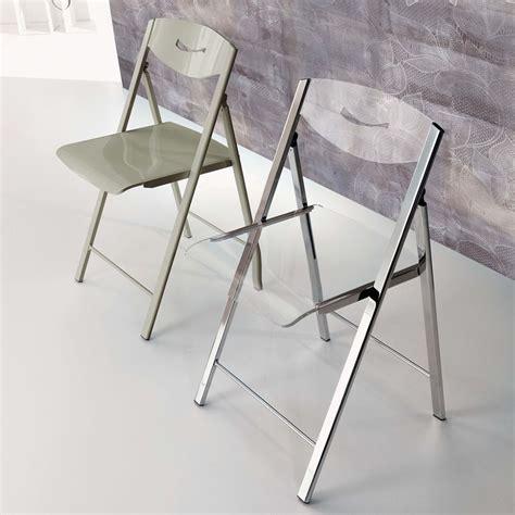 chaise pliante transparente ripiego chaise pliante moderne en m 233 tal et m 233 thacrylate