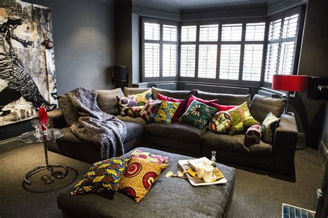elegant home decor with african textile bellafricana