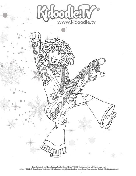 Love The Doodlebops Get These Fun Printable Holiday Doodlebops Coloring Pages