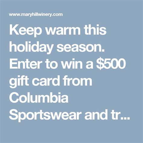 Columbia Sportswear Gift Card - 3376 best sweeps images on pinterest
