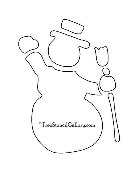 printable snowman stencils large snowman stencils images