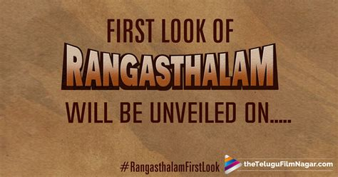 Look Out For Detox Release Date by Rangasthalam Look Poster Release Date Locked Ram