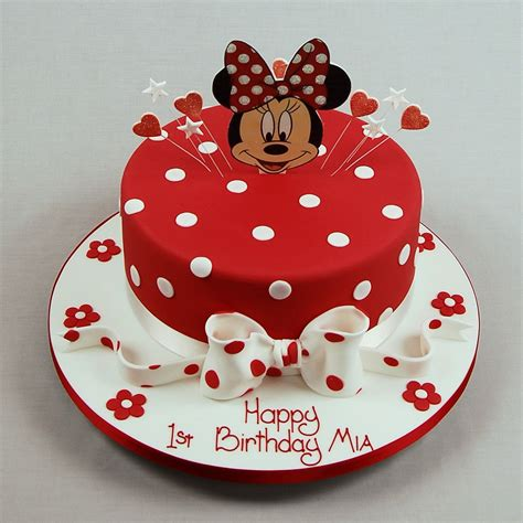 Mickey And Minnie Bedroom Red Minnie Mouse Birthday Cakes Birthday Cake Ideas