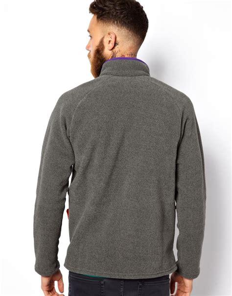 Jaket Hoodie Piaggo Keren Dan Trendy Jaket Zipper Murah patagonia karstens fleece jacket in gray for lyst