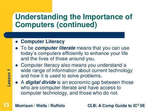 computer literacy lesson 1 computer and operating systems