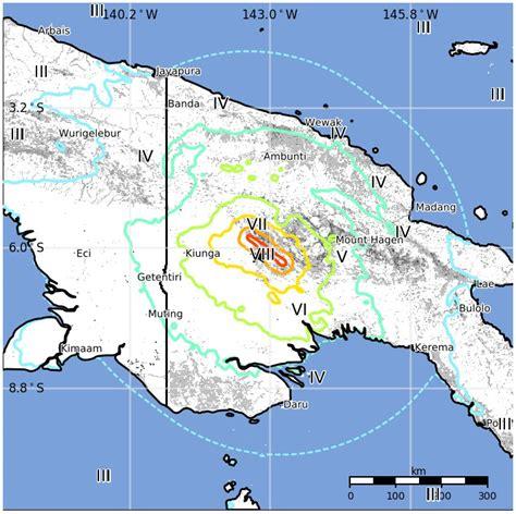 Papua New Guinea Fastis 2018 M7 5 Earthquake Hits Papua New Guinea