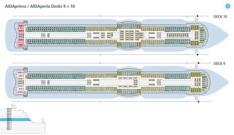 aidaprima deckplan 9 aidaprima position ᐅ kabinen bewertungen bugcam