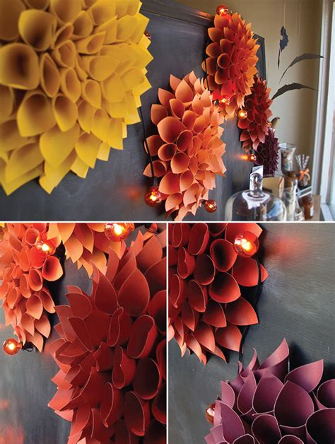 diy decorations construction paper project fall plume wreath window