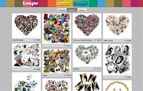 decorar fotos gratis collage loupe crea originales collages de fotos online