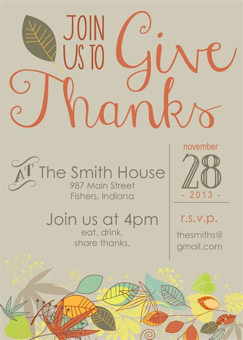Free Thanksgiving Invitation Templates by Printable Thanksgiving Invitation Moritz Designs