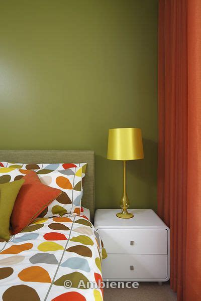 curtains for olive green walls olive green bedroom with orange curtains and orla kiely
