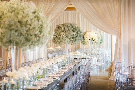 White Decorations by All White Wedding Decor Real Wedding Photos Wedding