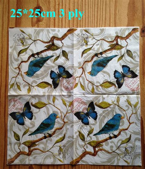 How To Decoupage With Paper Napkins - aliexpress buy 2 x decoupage paper napkin 25x25cm 3