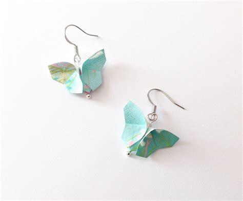 bo papillons origami papillon papier japonais boucles d