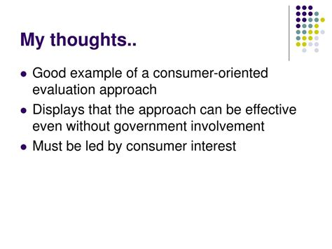 ppt consumer oriented evaluation approaches ppt consumer oriented evaluation approaches powerpoint
