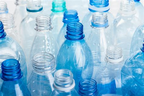 evian    recycled plastic   water bottles