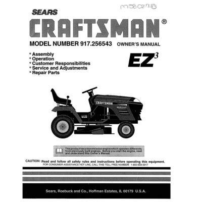 917 256543 15 0 Hp Owner S Manual Sears Craftsman 4 95