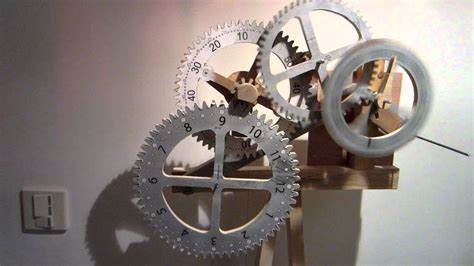 time  flying  wooden scroll  gear clock project