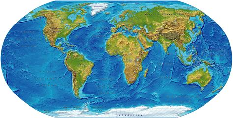 digital vector royalty  world relief map