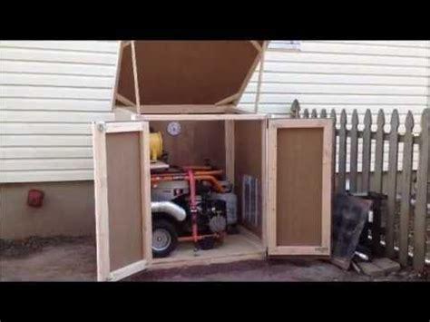 outdoor enclosure  portable generator prepping