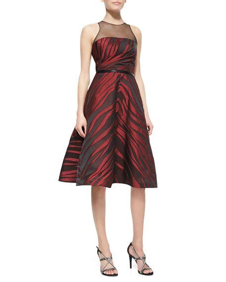 Print Sleeveless Midi Dress pamella roland sleeveless animal print midi dress