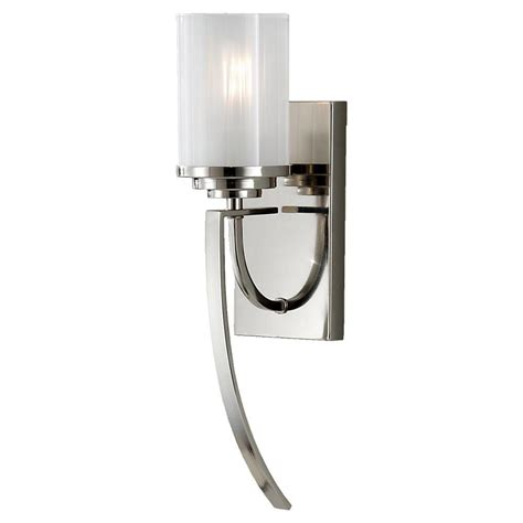 Polished Nickel Sconces by Feiss Finley 1 Light Polished Nickel Sconce Wb1561pn The