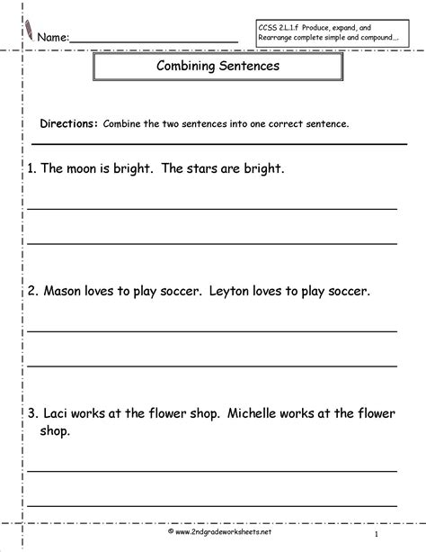 6th Grade Sentence Structure Worksheets by 16 Best Images Of Fix The Sentence Worksheets 1st Grade
