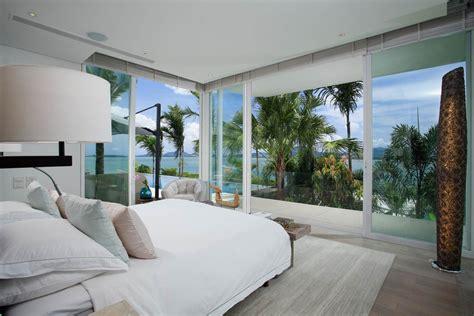 home concept design la riche bedroom glass walls views oceanfront villa in phuket