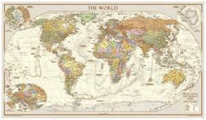 antique style world map large award winning from global