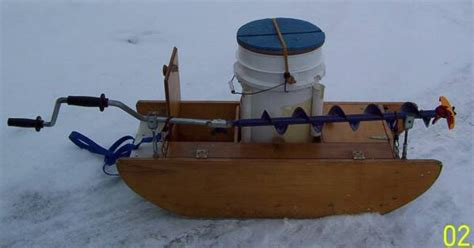 Ice fishing sled together with homemade ice fishing sled plans