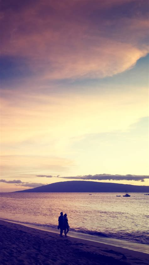 wallpaper for android beach walk at the beach sunset android wallpaper free download