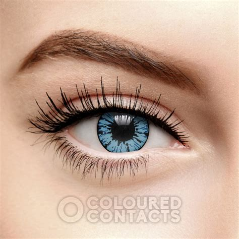 blue colored contact lenses blue blizzard colored contact lenses