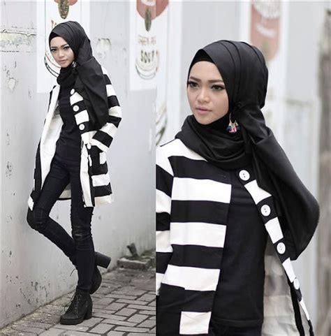 Baju Stail 20 model baju muslim casual modern wanita terbaru 2017 2018
