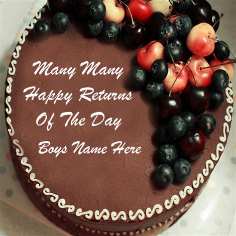 Happy Birthday Wishes With Name Boys Happy Birthday Wishes Chocolate Name Cakes Pictures