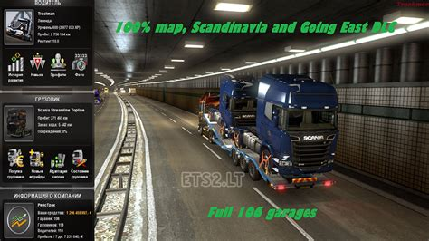 euro truck simulator 2 save game no mod save game 1 20 1s going east scandinavia dlc 100 map