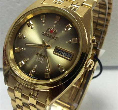 new orient automatic mens day date gold tone reloj automatico made japan ebay