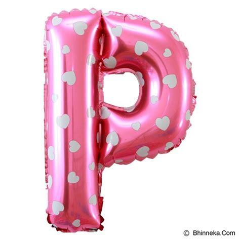 Balon Foil Balon Huruf Pink Biru jual our balon huruf p pink murah bhinneka