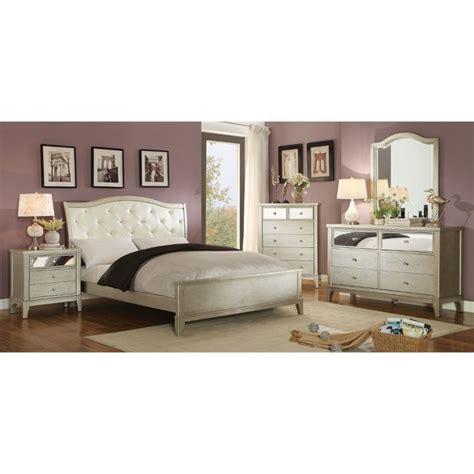 4 piece king bedroom set furniture of america bessie 4 piece california king